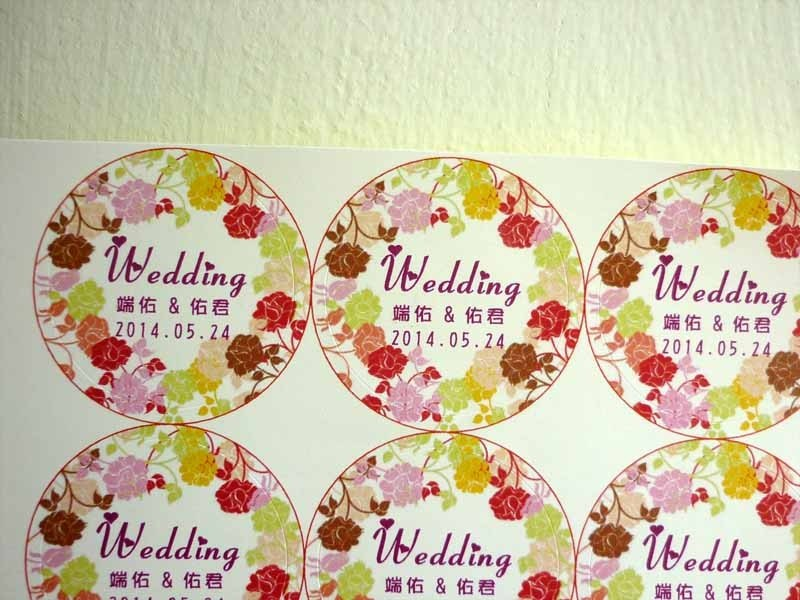 Customized flower 漾 stickers round stickers round stickers wedding stickers goods stickers pet photo stickers tinplate