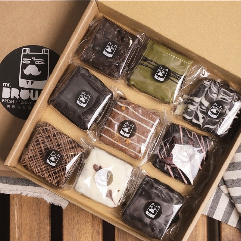 【mr.BROWNIE】Chef's Selection box - 9 Brownies