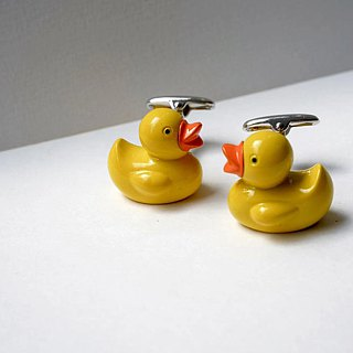 Animals - Yellow Ducks Color Cufflinks YELLOW DUCK CUFFLINKS