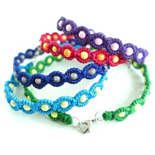 <BEADS> Small beads Wide tailored XS mini small dog / cat pet collar waterproof