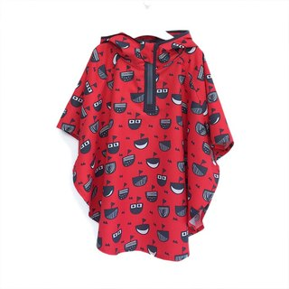 OGG adventure baby adventure cloak x storage bag ♥ small pirate ship (children raincoat - red)