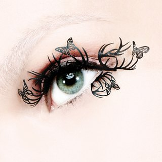 [PAPERSELF] British design patent paper eyelashes deer and butterflies (Deer & Butterfly)