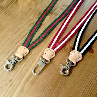 The new color models listed - taste badge lanyard - hook hanging - red and white pattern