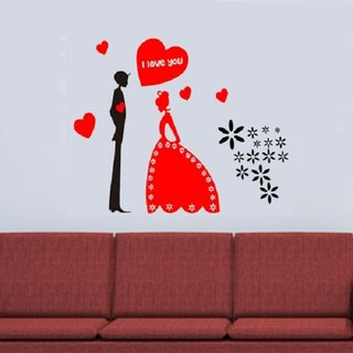 Smart Design Seamless wall stickers creative wedding ◆ 8 color options