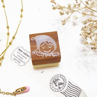[Stock goods] handmade rubber stamp - Naughty Little Red Riding Hood (E)