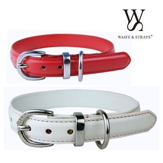 Wes [W & S] Infusion Leather Collar - Size S - red