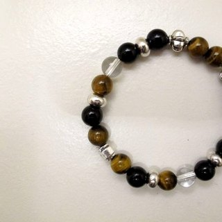 Appropriate British hand made Tiger Eye / onyx ore bracelet