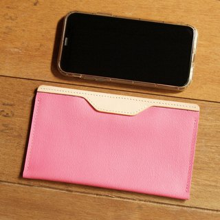 Leather Phone Case for iPhone Xs Max/ 6/7/8 plus ( Custom Name ) - Peach