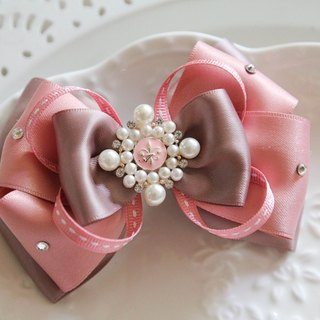 Pink three-dimensional bow French nobility folder