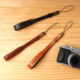 Leather Hand strap Light Brown / Red Brown / Black