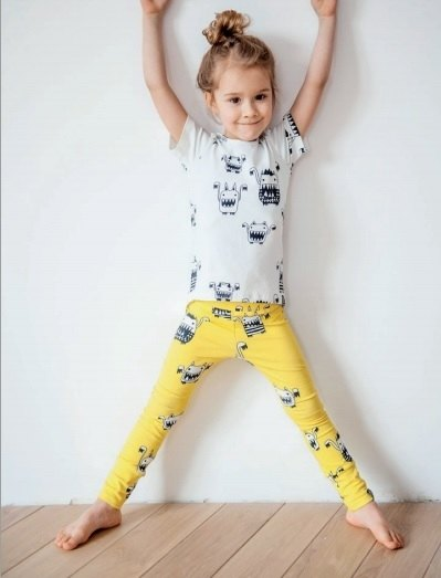 2014 Spring yellow monster limited edition legging Q