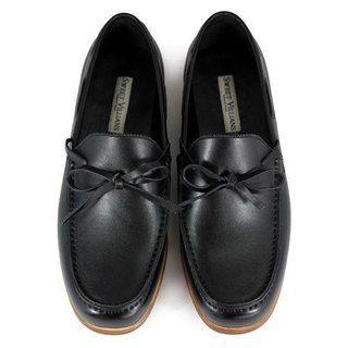 Toadflax M1122 Black leather loafers