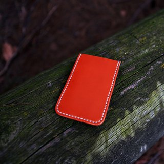 33. Simple hand-stitched leather card holder