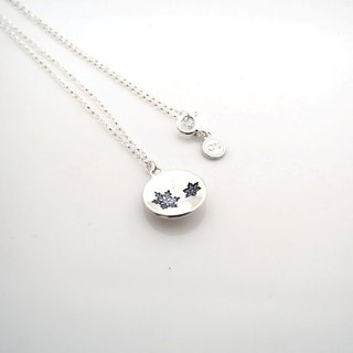 Round round snowflake (925 sterling silver necklace) - C percent handmade jewelry