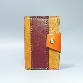 [ANITA] Workshop manual hand-made leather ‧ color stitching high texture business card holder / card holder / card sleeve / sleeve dual-use travel card - Specials