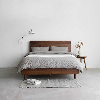 Laoshan Studio - Design Furniture - Log Wood Double Bed Racks 180*210