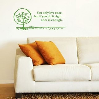 / Quote / Tree / Wall Sticker / ECO-Material