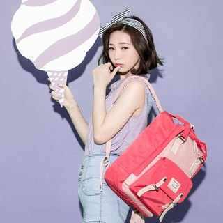 Doughnut Waterproof Macaron Backpack - Cherry Bubble