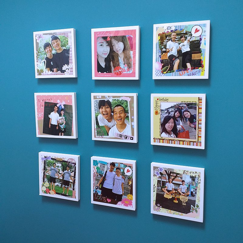 personalized gifts- 9 pics magnet photo cards