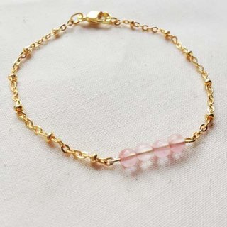 ﹉karbitrary﹉ ▲ ---⊕--- Watermelon natural crystal stone bracelet point K