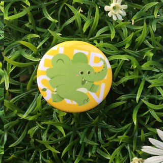 CHUMIO RUN Series: Illustration Badge Pin / Magnet (Elephant)