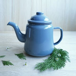 British afternoon tea enamel pot - gray-blue | Falcon