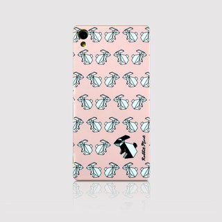 (Rabbit Mint) Mint Rabbit Phone Case - Pink Origami Rabbit Series - Sony Z3 + (P00070)
