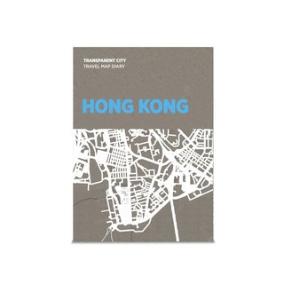Palomar depicts a city transparent map of Hong Kong