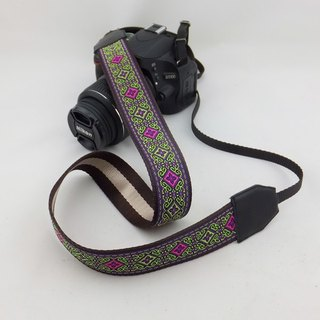Camera strap can print personalized custom leather stitching national wind embroidery pattern 041