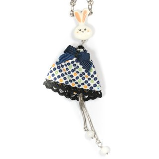 [Taratata Paris, France classic necklace] blue bunny manual cold enamel classic European style Necklace