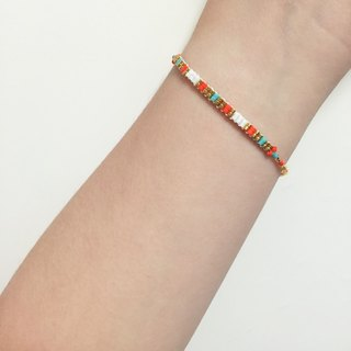 ololssim nation orange gold bracelet (0229)