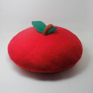 Handmade customized wool felt needled beret ( Item as picture shown)——gules