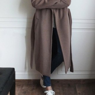 Mocha color wool coat (5% Kashmir wool)