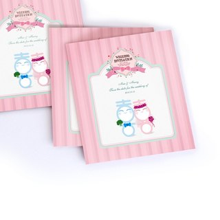 Hi doll / / spring aroma _ apricot series / / creative custom wedding card wedding invitation + sticker + table card value group