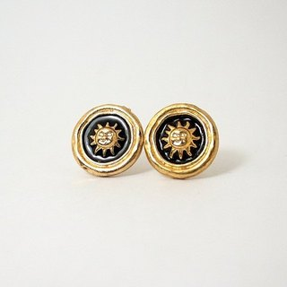 Circle dot Gold Sun Stainless Steel Earrings 0152