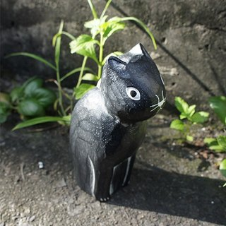 _ Small things wooden animal series: black cat corner