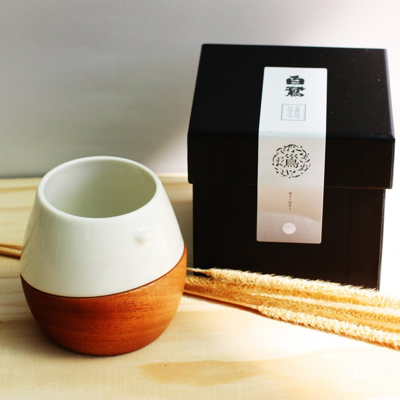 WarmBi Bird's Nest Cup - Egret / Feather Clean / Exclusive plus a little sign