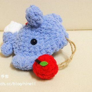 [Leaf cat son. Hand-made crochet doll] finished - the forest department elephant Wallets