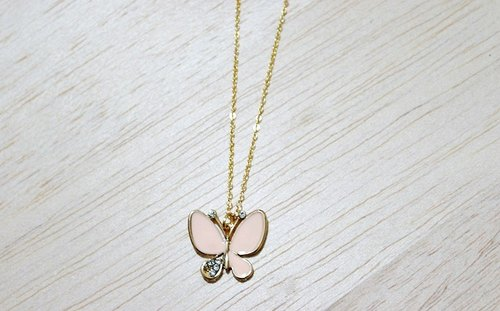 Alloy X Color Necklace <Pink Butterfly>-Limited x1-