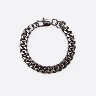 GOOTS / 10MM Cuban Curb-Chain Bracelet 10MM thick flat chain bracelet