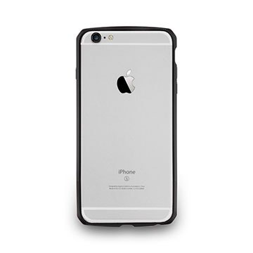 iPhone6/6s–碳纖紋鋁合金保護框- 墨黑色