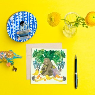 <Nutrients islands> Greeting Cards / Taiwan macaques (Single)