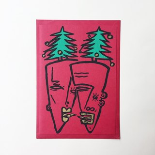 ❄ Handmade Christmas Card- German Screen Printing