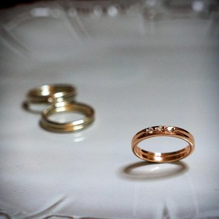 ♦ NINA SHIH JEWELRY ♦ concentric bicyclic ring real diamond rose gold ::