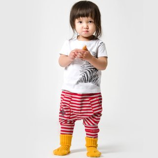 [Nordic design] Swedish organic cotton children's clothing trousers red