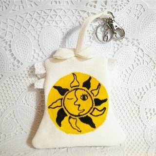 Hand-painted document holder - Sun