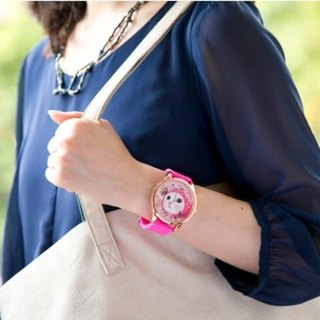 Jetoy, sweet cat good mood gold box watch (Pink + G) (Japanese) _Pink hood (JJWW006)