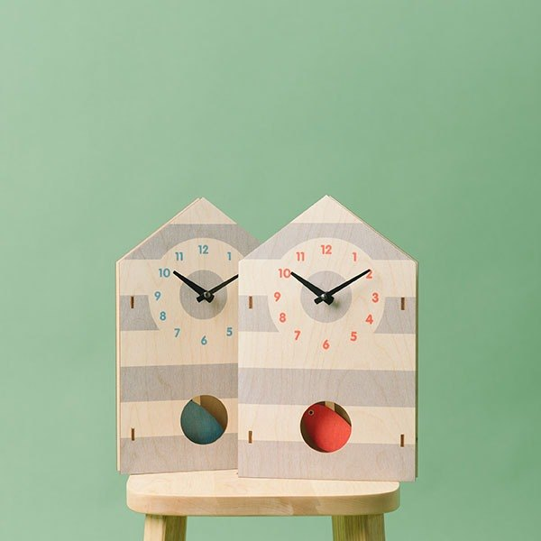 modern moose-3D clock-birdhouse pendulum clock(two colors)