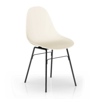 TOOU Side Chair with black Legs (Beige)