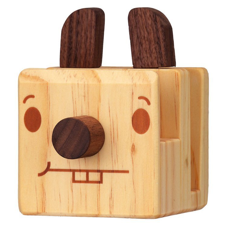 Foufou-Wood Stuff – Glass / Phone Holder (Rabbit)